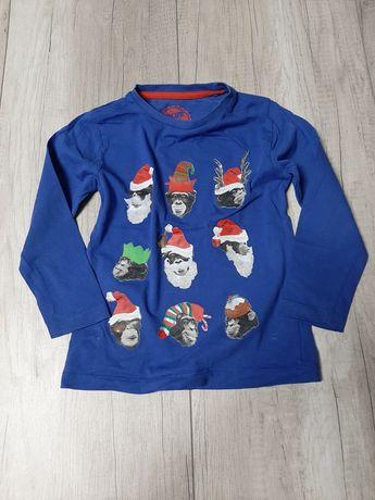 Niebieska bluzeczka z małpkami r 110