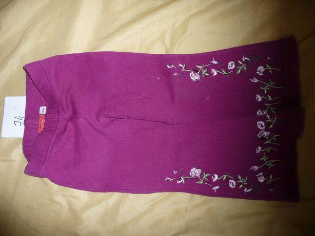 Sprzedam - spodnie dla dziewczynki - różowe w haftowane kwiatki