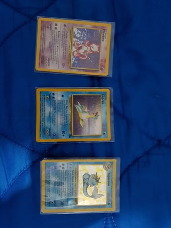 Cartas pokemon, fossil, jungle e base set