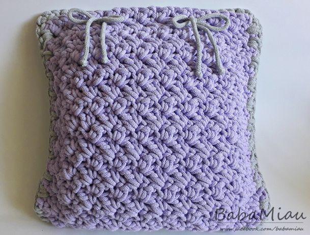 Poszewka na poduszkę ze sznurka bawełnianego - kolory