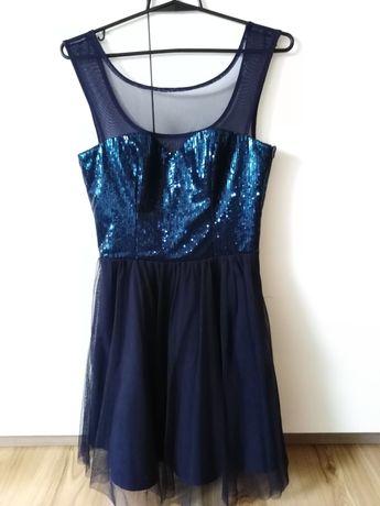 Granatowa sukienka Nuance rozmiar S