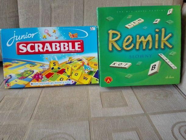 Zestaw gier SCRABBLE junior, REMIK opcja wysyłki
