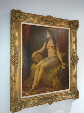 Obraz Kobieta z tamburynem H.Łaty