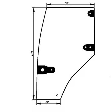 Szyba drzwi prawe CASE NEW HOLLAND MC CORMICK 192004A6