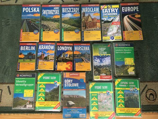 Wyprzedaż map turystycznych (laminowane i papierowe)