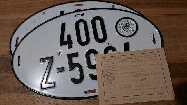 tablice rejestracyjne dyplomaty VW Wolfsburg