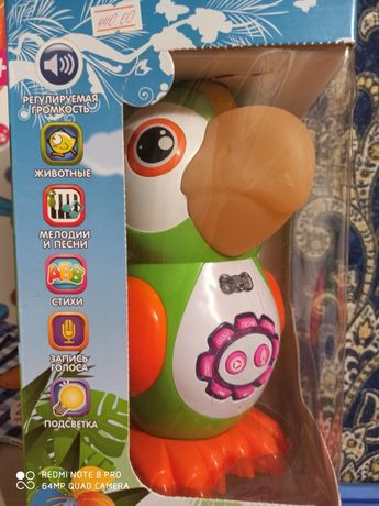 Умный попугай сенсорная  интерактивная музыкальная игрушка Новая!