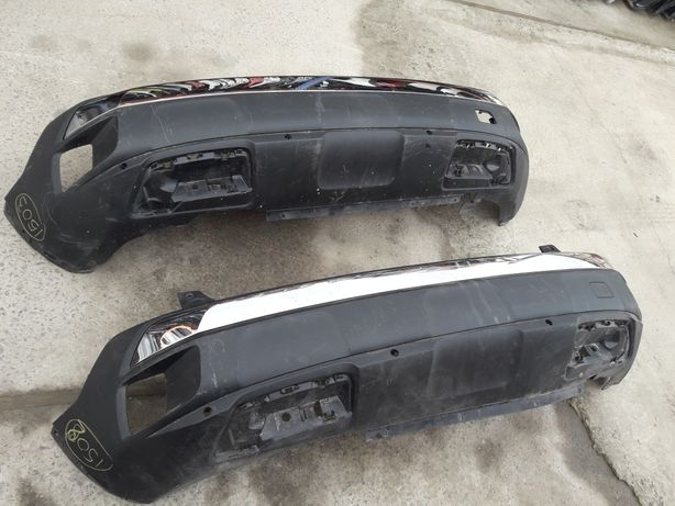 Peugeot 3008, 9811865077. GT-line 2016-. Бампер задній, хром. (1502)