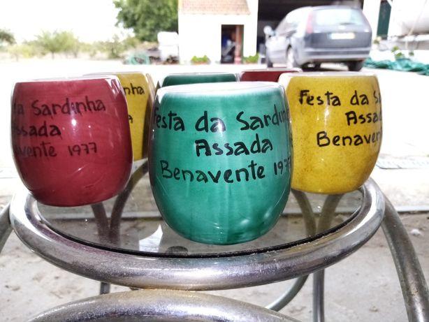 Canecas alusivas festas sardinha Benavente 1977