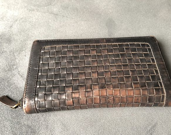 Portfel czarny skórzany