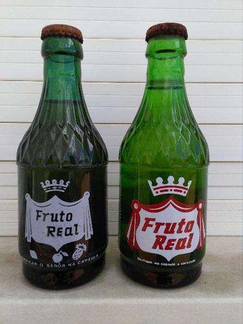 garrafas antigas de Fruto Real com sumo original