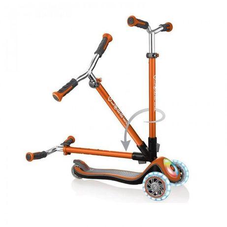 Трехколесный Самокат Globber Elite Prime Глоббер, свет колес, платформ