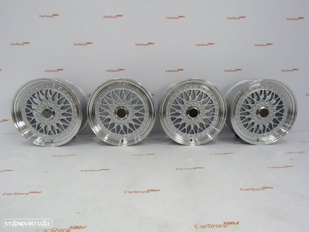Jante Look BBS RS 17 x 7.5 et20 4x100 + 4x114.3 Silver