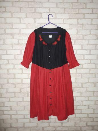 Платье Ххл, платье большого размера, красное чёрное