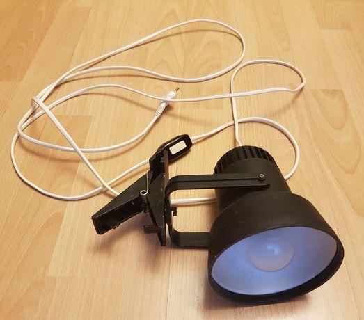 Lampa z klipsem kinkiet z pstryczkiem retro PRL