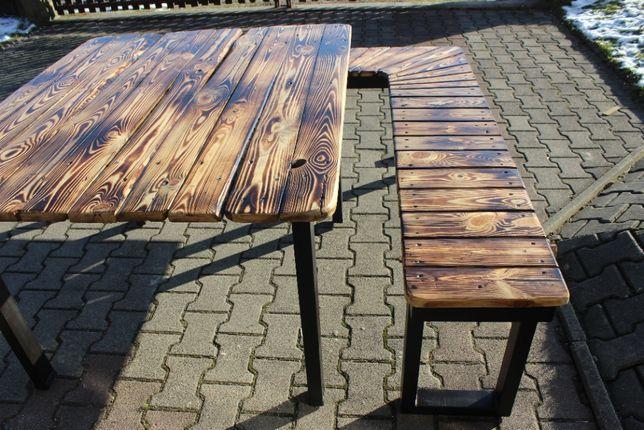 Stół i ławka ogrodowa