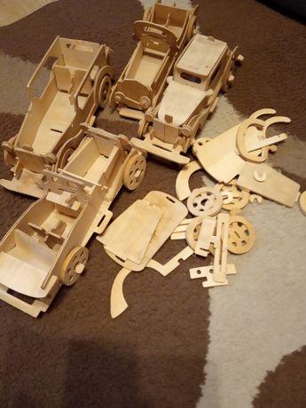 Model samochodu z drewna