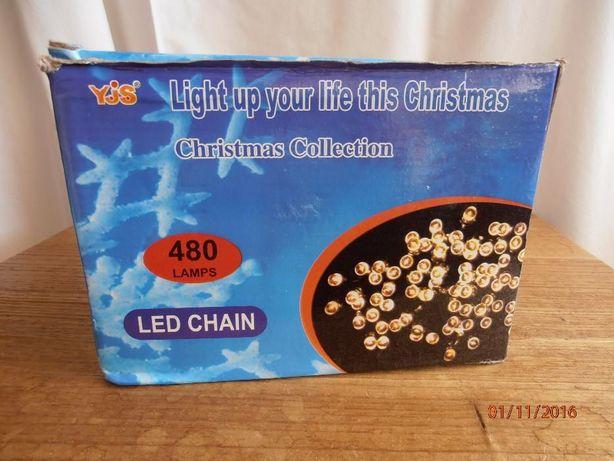 Cortina com 480 de luzes de natal completamente nova