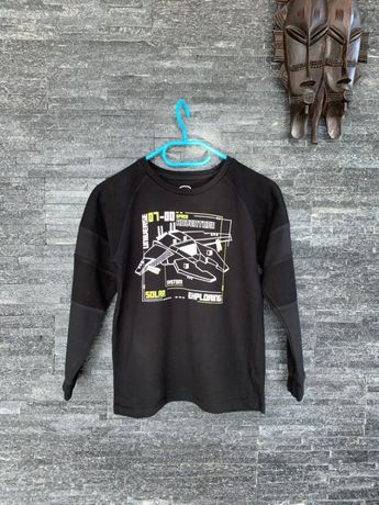 r. 146 cm / COOL CLUB / SMYK czarna luźna bluza z aplikacją