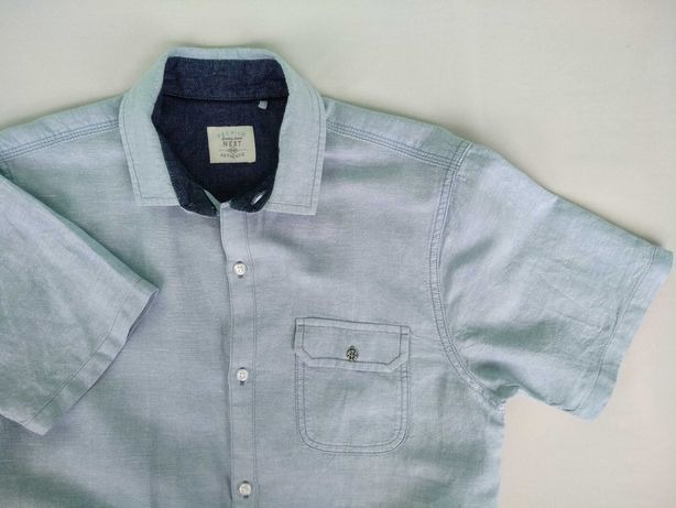 "Рубашка-шведка льняная школьная ""Next"" р.170-176 подростку 15-16л"