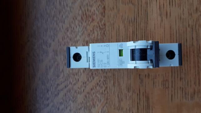 Wyłącznik nadprądowy, bezpiecznik Siemens 5SY61MCB C2