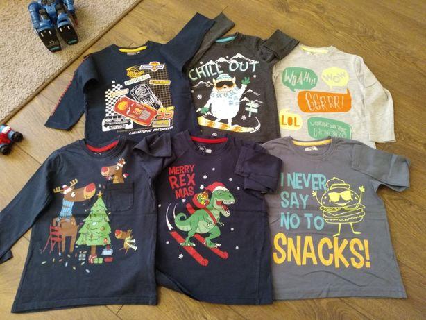 Mega paka dla chłopaka rozmiar 104 spodnie bluzki koszula