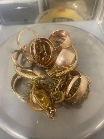 Złota biżuteria , złom złota próby 585