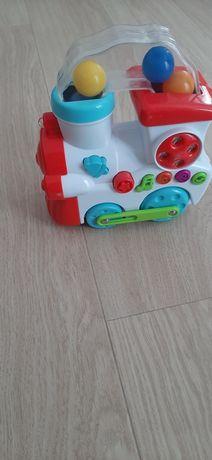 Pociąg lokomotywa zabawka interaktywny gra, świeci lampka stan bdb