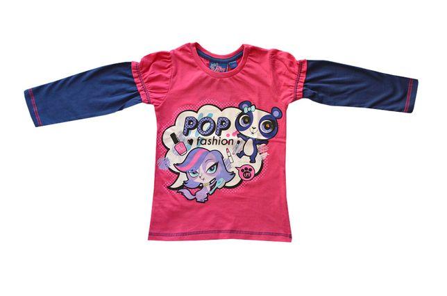 T-shirt Pet Shop z długi rękaw różowy rozmiar 98, 110