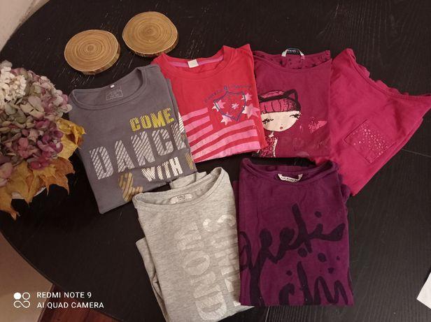 PROMO mega paka zestaw bluzek 134/140 dla dziewczynki reserved zara ka