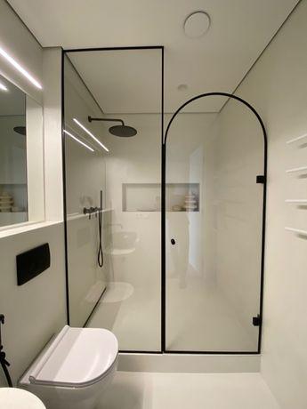 Душевые кабины из закаленного стекла, двери и шторы в ванную, зеркала.