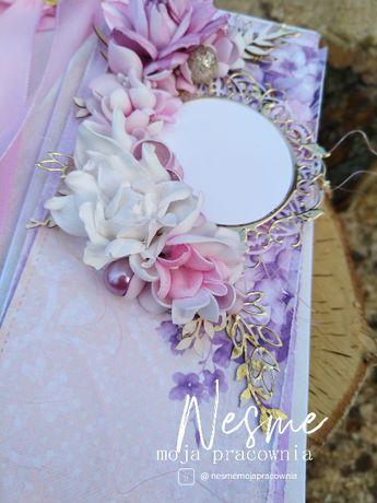 Kartka okolicznościowa ślubna, kartka na ślub, ręcznie robione
