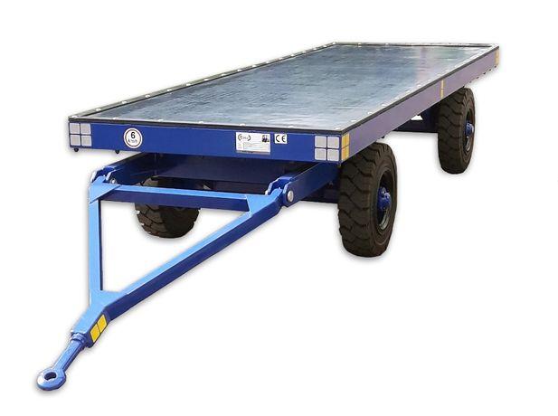 Przyczepa wewnątrzzakładowa transport wewnętrzny do wózka widłowego