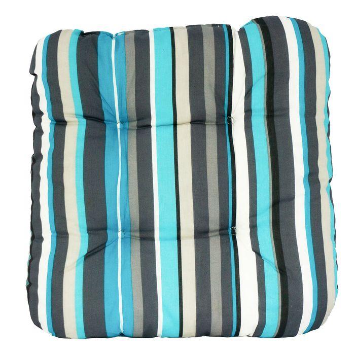 Poduszka na Krzesło Siedzisko 38x38 PASKI KOLOROWA szary niebieski Szczecin - image 1