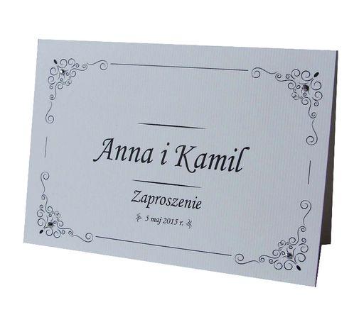 Zaproszenie na ślub minimalistyczne eleganckie