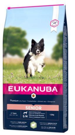 Eukanuba+7senior  lamb and rice  12кг