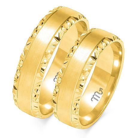 Obrączki złote ślubne płaskie próba 585 O-106