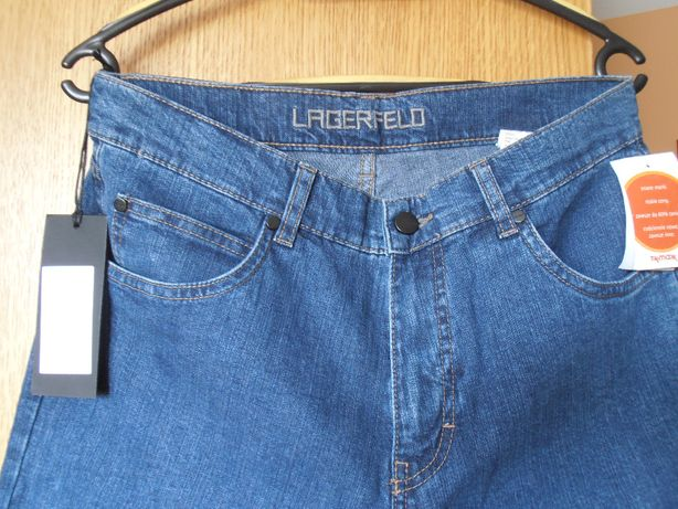 Nowe dżinsy, jeansy LAGERFELD 32/32 lekkie, rozciągliwe ze stretchem.