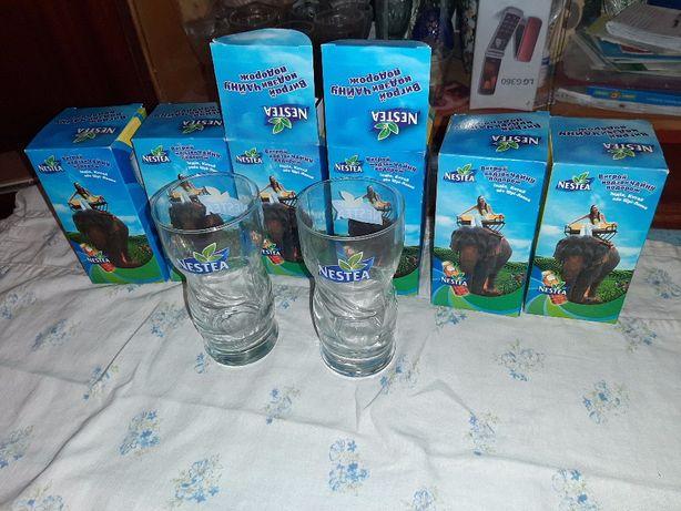 Продам стаканы Нести Nestea 6 шт на подарок