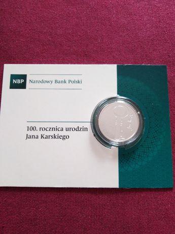 Moneta srebrna 10 zł Jan Karski