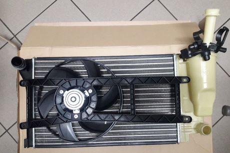 Nowa chłodnica wody Fiat Panda z elektro wentylatorem 2003-1,1 1,2V