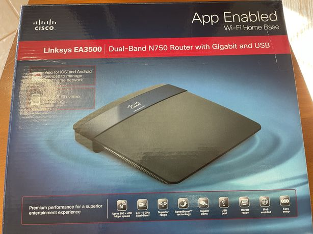 Cisco Linksys EA3500 N750 Wireless Router Gigabit