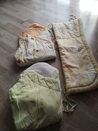 rożki niemowlęce i ochraniacz do łóżeczka