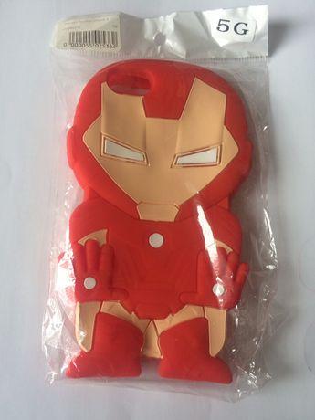 Чехол Резиновый Iron Man для Apple iPhone 5 / 5s
