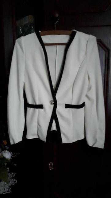 Marynarka damska biało czarna roz 36-38
