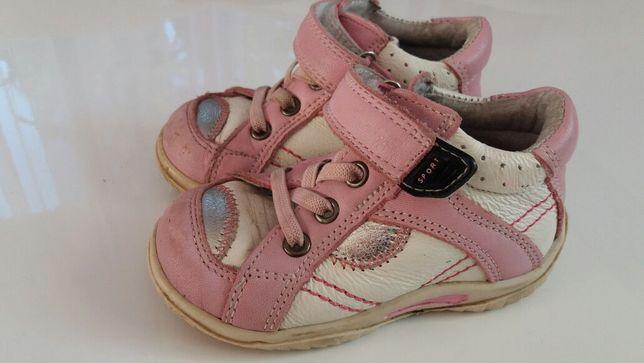 Buty Adidasy skórzane dla dziewczynki rozmiar 21