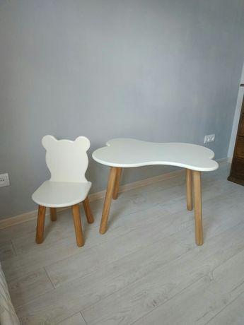 Детский стол и стул с дерева и МДФ.Мебель в детскую, десткий сад.