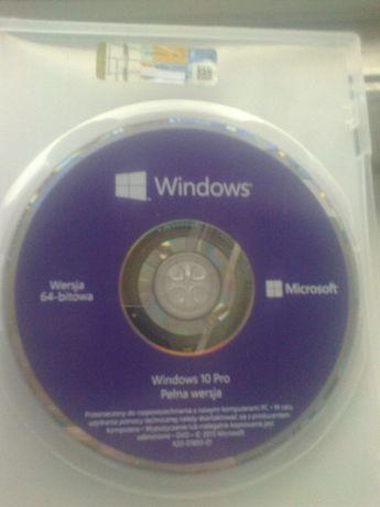 Windows 10 Professional 64 bit OEM PL naklejka z kluczem + płyta dvd
