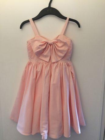 sukienka pudrowy róż 140 cm wyprzedaż szafy
