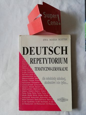 "książka ""Deutsch repetytorium tematyczno leksykalne"" Ewa Maria Rostek"